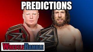 WWE Survivor Series 2018 Predictions!