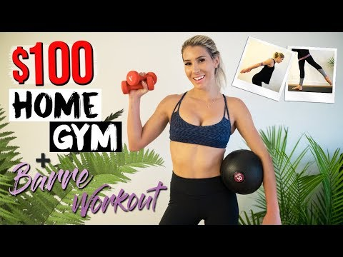 Budget Home Gym & Barre Workout | $100 Challenge