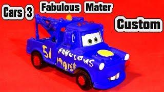 Pixar Cars 3 Custom Fabulous Mater with Jackson Storm, Lightning McQueen Cruz Ramirez and Doc Hudson