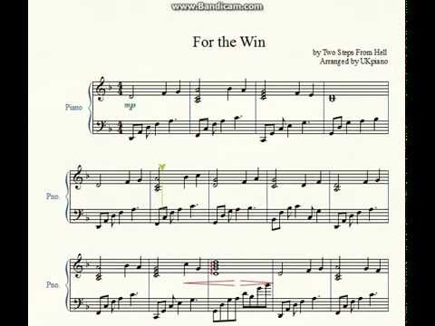 Victory (piano solo) two steps from hell | sheet music for piano.