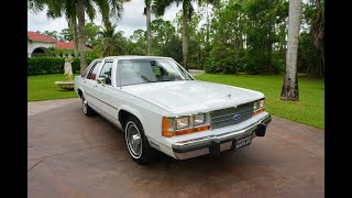 1989 Ford LTD Crown Victoria with 21K Miles - Panther Platform 5.0 - Review and Test...