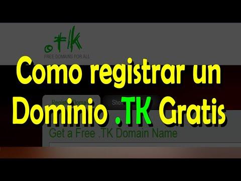 Como Registrar y Direccionar Dominio Gratis TK ( Actualizado )