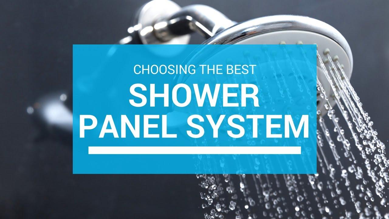 Choosing The Best Shower Panel System - YouTube