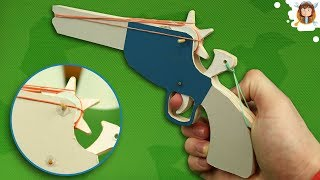 Rubber Band Gun - Tutorial - (Cardboard Pistol)