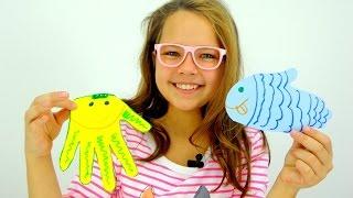 Поделки своими руками! Лучшая подружка  Настя и рыбки из бумаги! Творчество!