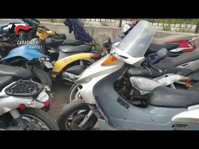 Calvizzano, 66 scooter rubati trovati in due centri di accoglienza per i migranti