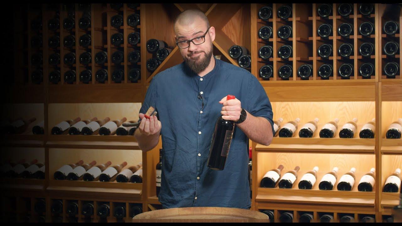 Åbning af vin med lak- eller voksforsegling