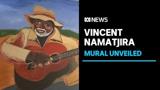 Vincent Namatjira reveals mural of the men who have inspired him | ABC News