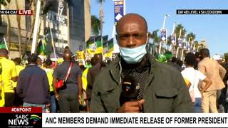Zuma's supporters demand the immediate release of the former president