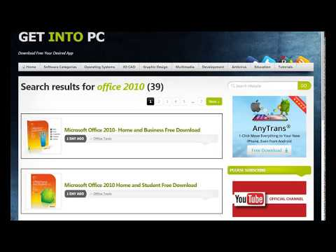 how to download office 2010 for windows 7/8/10
