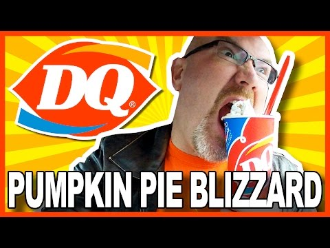 Dairy Queen LARGE Pumpkin Pie Blizzard® Treat Review 990 Calories