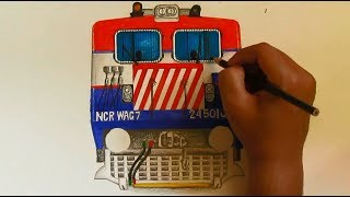 Sketching BHEL WAG7 Locomotive [INDIAN RAILWAYS]