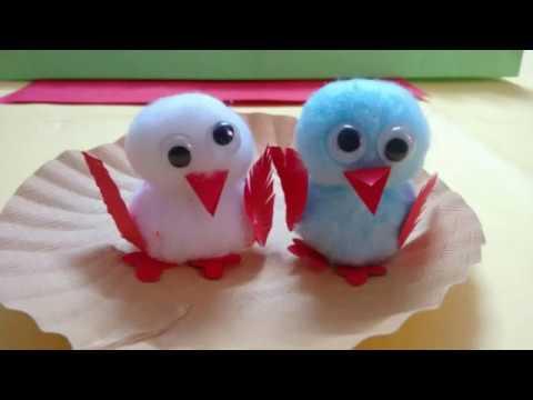 Diy Bird Crafts Using Cotton Innovative Artsncrafts Youtube