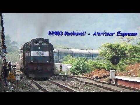 12483 Kochuveli - Amritsar Express Crossing Mandovi!!!!!