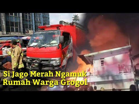 KEBAKARAN MALAM HARI INI GROGOL JAKARTA BARAT 9Agustus2021