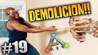 ARK SURVIVAL EVOLVED #19 | DEMOLICION!! TIRO MEDIA CASA ABAJO!!! TOCA REFORMAR | XxStratusxX
