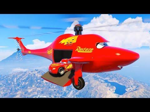 Şimşek McQueen ve Örümcek Adam Rusteze Ailesinin Helikopteriyle Buluşuyor