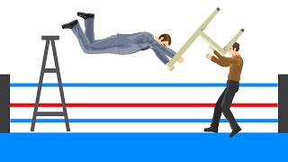 MOST BRUTAL WWE TAKEDOWNS EVER! (Happy Wheels)