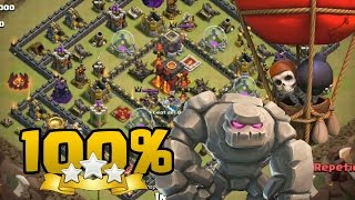 CB Laloon TH10 vs TH10 3 estrellas 100% | Clash of Clans