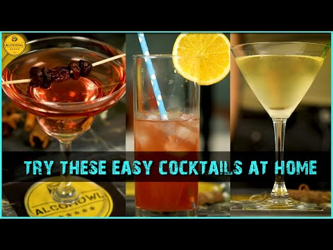Easy Cocktails To Make At Home | 3 - Minute Cocktails