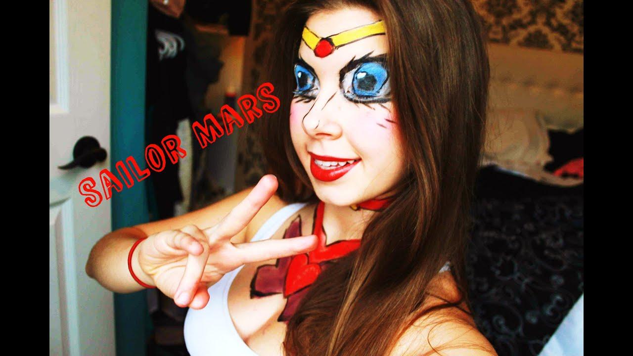 Sailor Moon/Mars Makeup Tutorial : Collab u263e - YouTube