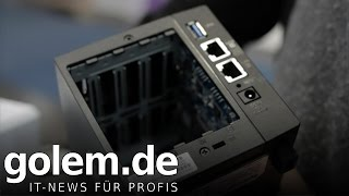 Synology DS416slim angesehen (Cebit 2016)