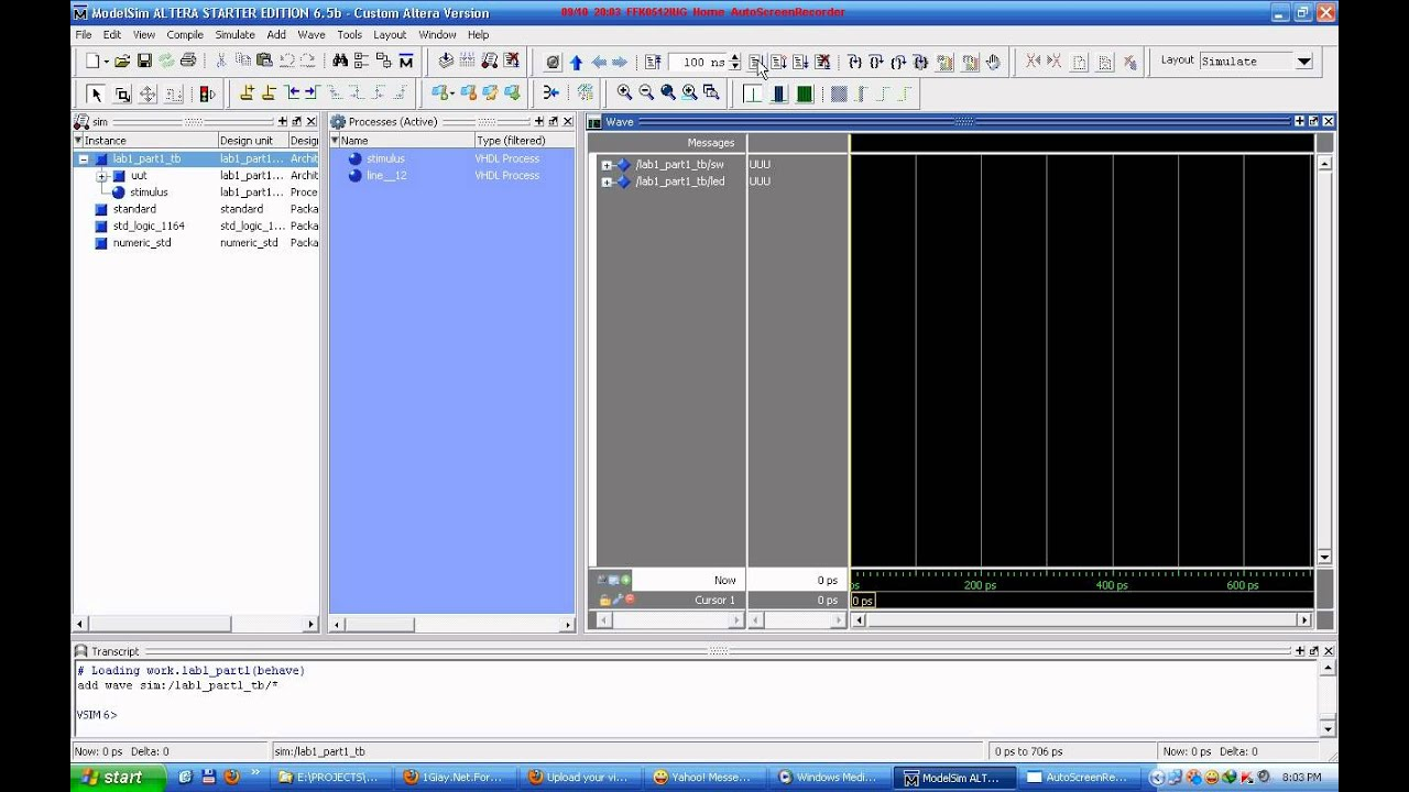 Hướng dẫn sử dụng ModelSim để mô phỏng cho FPGA | esrc618
