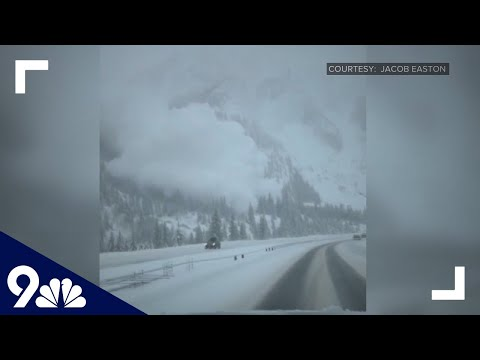 Avalanche caught on camera barreling toward Colorado highway