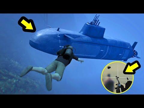 أخيرا بعد مرور 1825 يوم إكتشفت جواب هذا السر   GTA V Frank's Secret Submarine