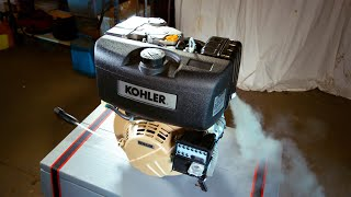 10Hp Kohler Diesel Engine First Start Up (on Biodiesel)