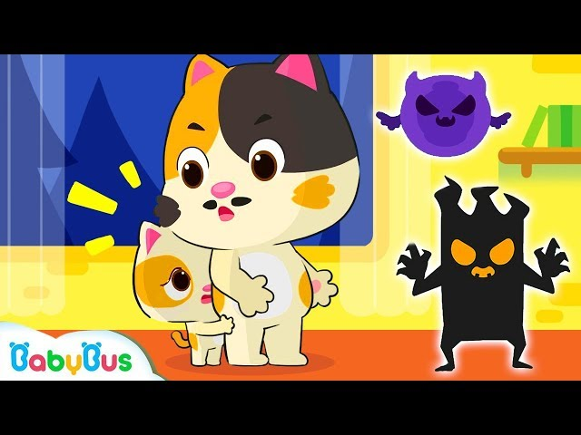 Daddy! Big Monsters Have Come | Baby Kitten's Camping Trip | Halloween Songs | BabyBus