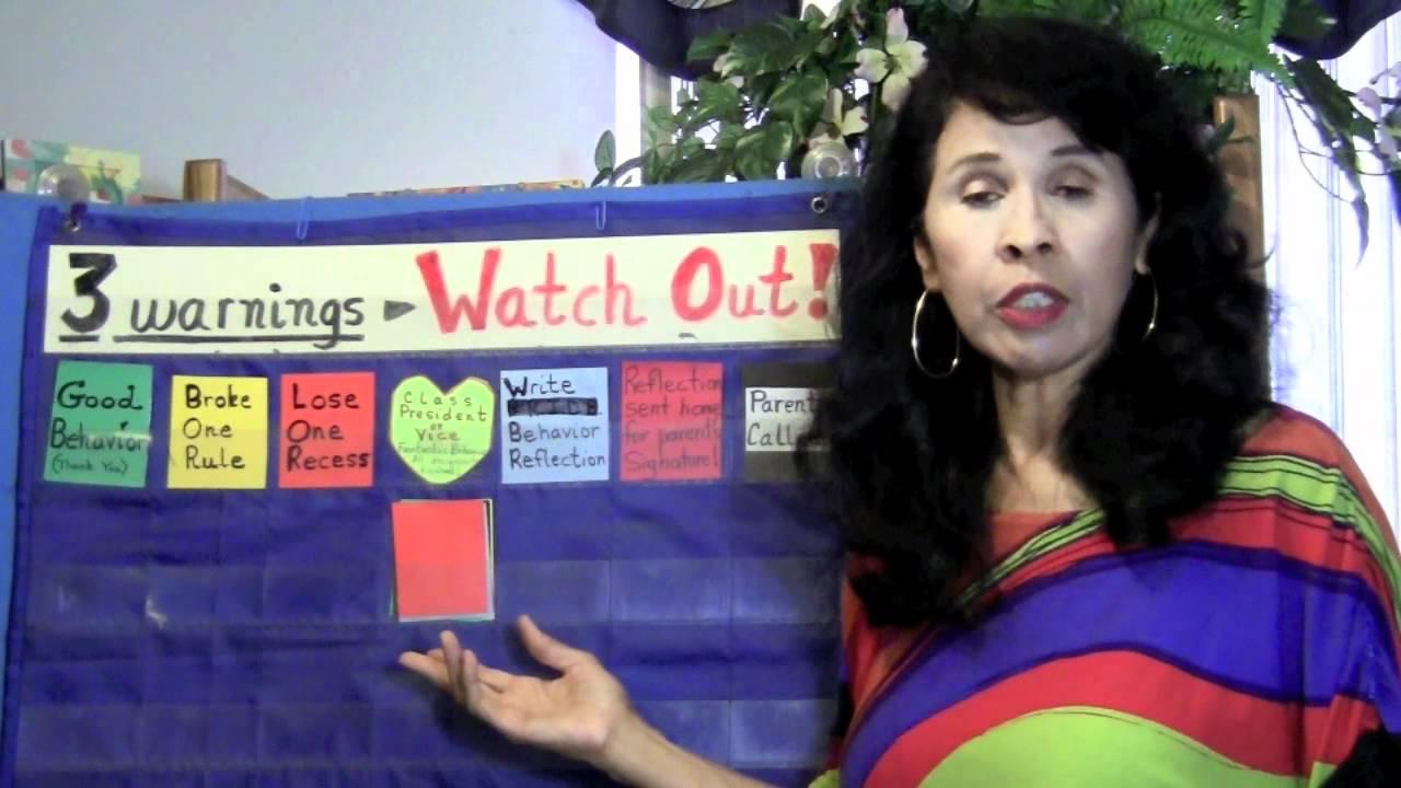 new teachers - color behavior chart