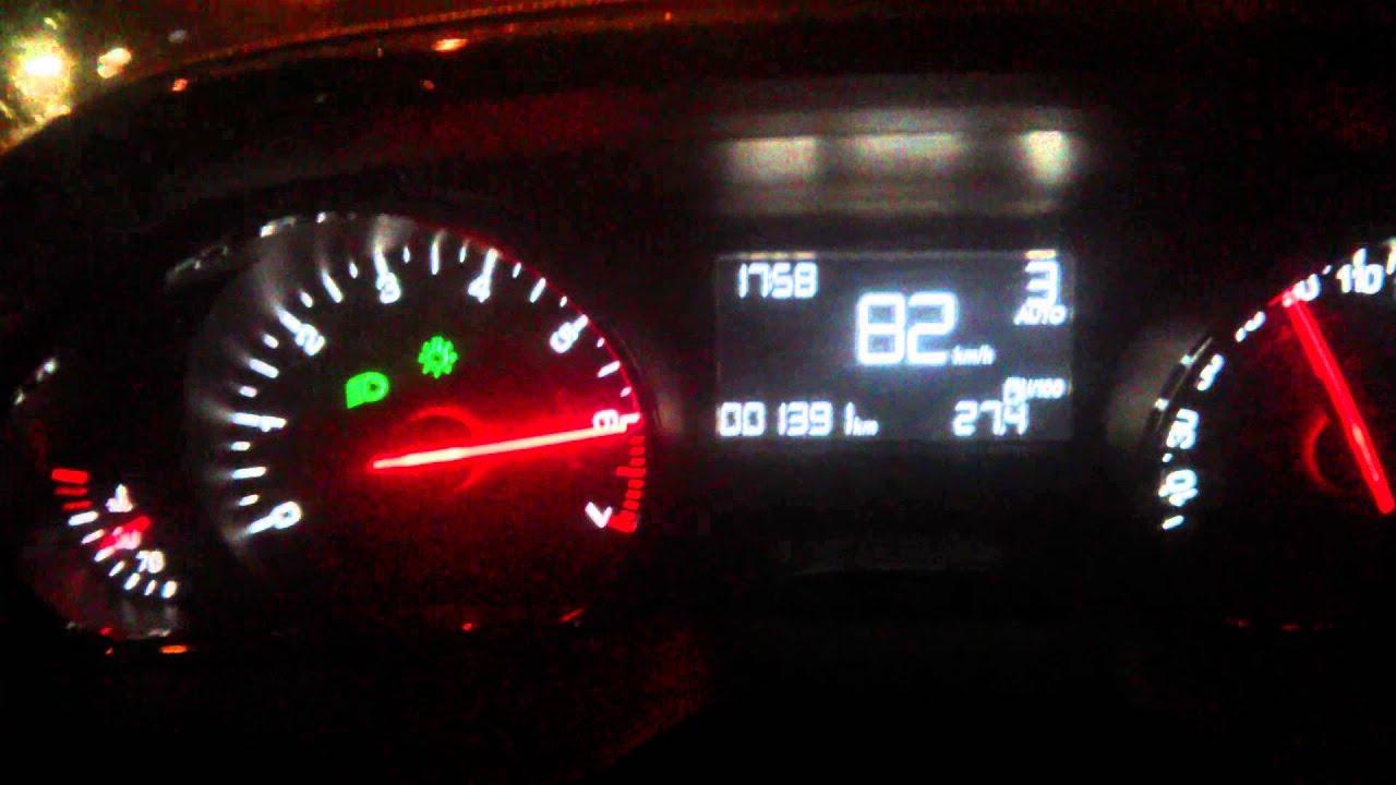 peugeot 208 1.2 vti 0-100 km/h anlık yakıt tüketimi - youtube