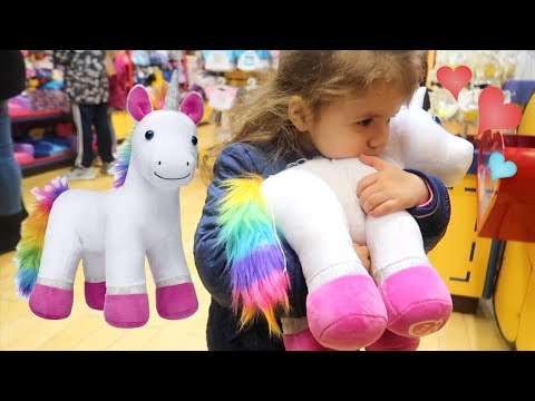Shopping for UNICORN Plush at Build-A-Bear Toy Store