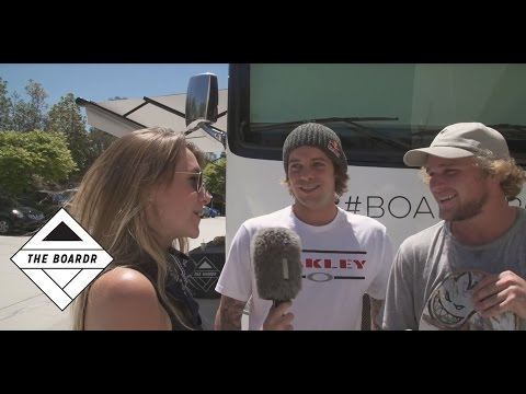 Amelia Chats With Ryan Sheckler, Skateboarders at The Boardr Am Contest