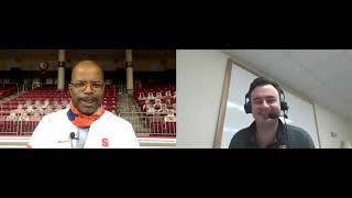 Orange women's basketball associate head coach vonn read joins brian higgins after syracuse's 83-70 win on the road at boston college sunday. ret...