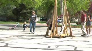 Trebuchet And Water Balloons  (part One)