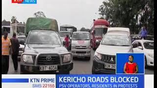 Kericho roads blocked over stoning Kisumu