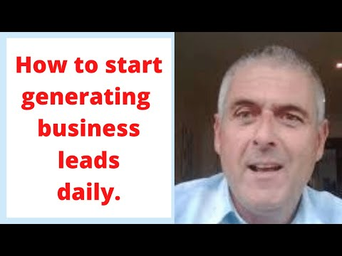 How to generate business leads daily, great marketing strategies.