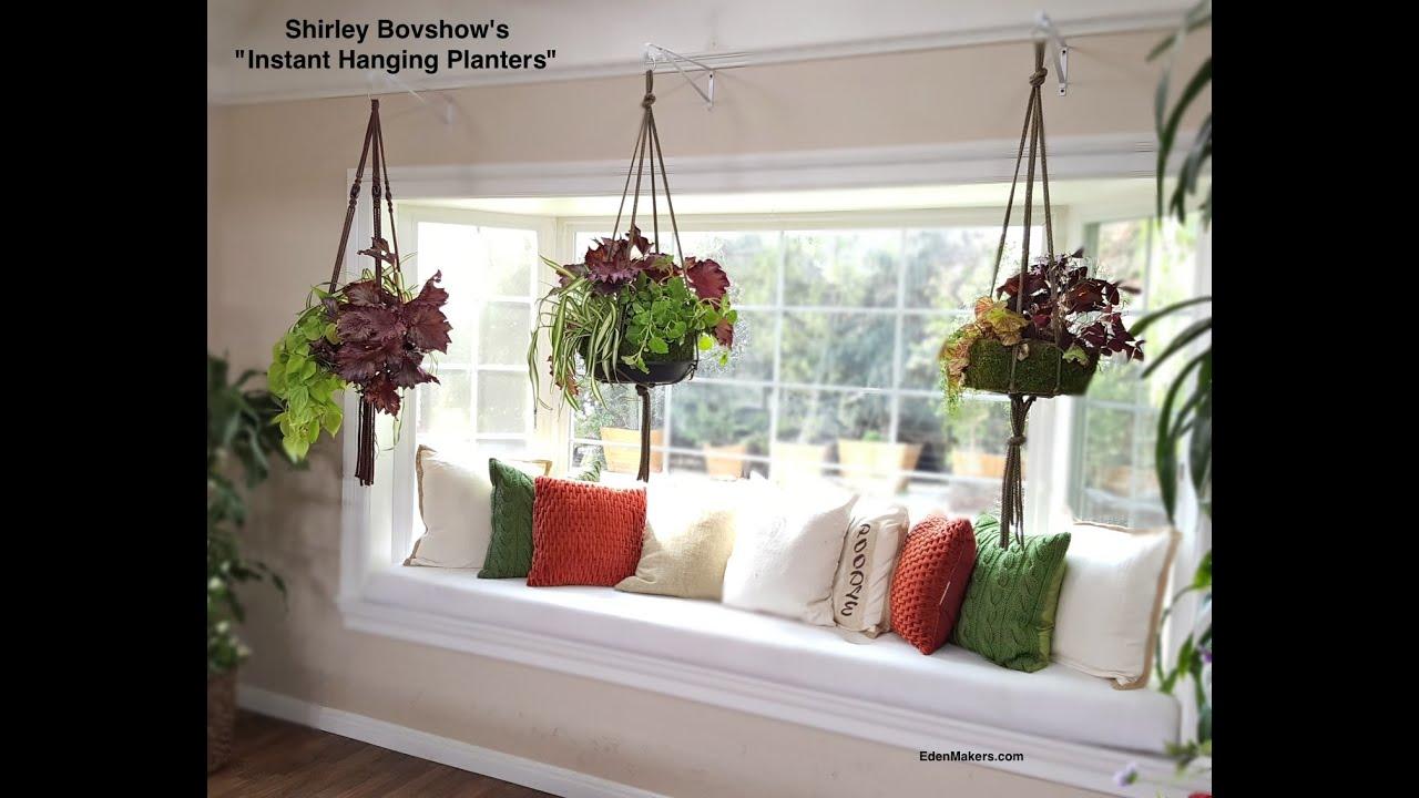 Instant Indoor Hanging Planter: Lightweight - YouTube on Hanging Plant Pots Indoor  id=46037