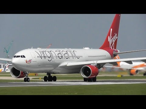 Plane Spotting at Manchester Airport, Close up Spool ups! 07-05-18