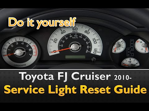 toyota fj cruiser service oil light reset youtube. Black Bedroom Furniture Sets. Home Design Ideas
