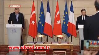 Erdoğan önce Macron sonra gazeteciyle tartıştı
