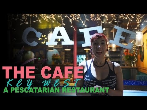 The Cafe: Where to eat Vegan in Key West! A Pescetarian Restaurant with Vegan Key Lime Cheesecake!