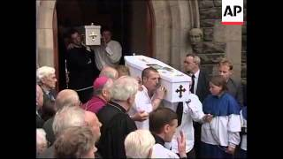 N. IRELAND: BALLYMONEY: FUNERAL OF MURDERED CATHOLIC BROTHERS
