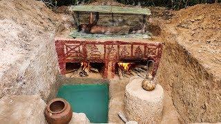 Build Ancient Steam Bath And Mini Pool Underground