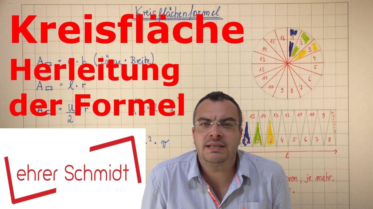 Kreisfläche   Herleitung Der Formel (einfach) | Mathematik