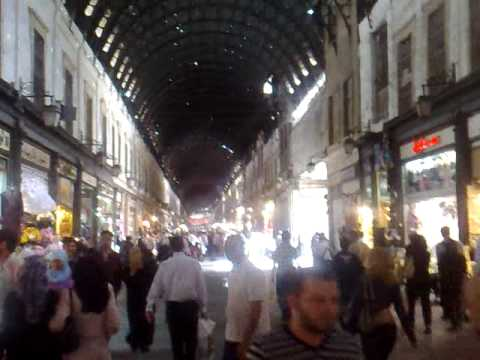 THE MOST FAMOUS MARKET IN DAMASCUS AND SYRIA جولة في سوق الح