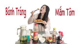 Thử thách ăn Bánh tráng trộn với tất cả các loại nước chấm   Trần Minh Phương Thảo