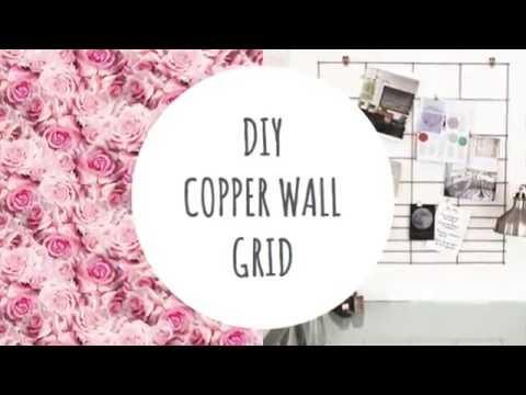 DIY: Copper Wall Grid